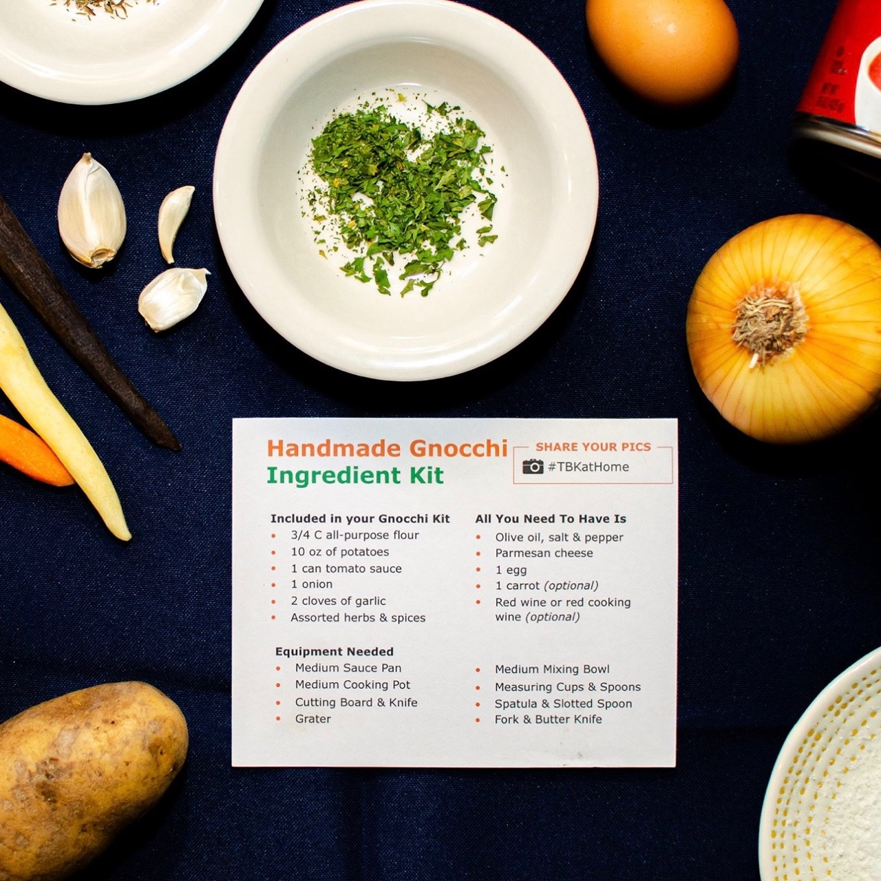 Virtual pizza making class with ingredient kit mailed to each guest