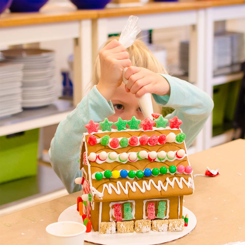 Gingerbread House decorating class at Taste Buds Kitchen