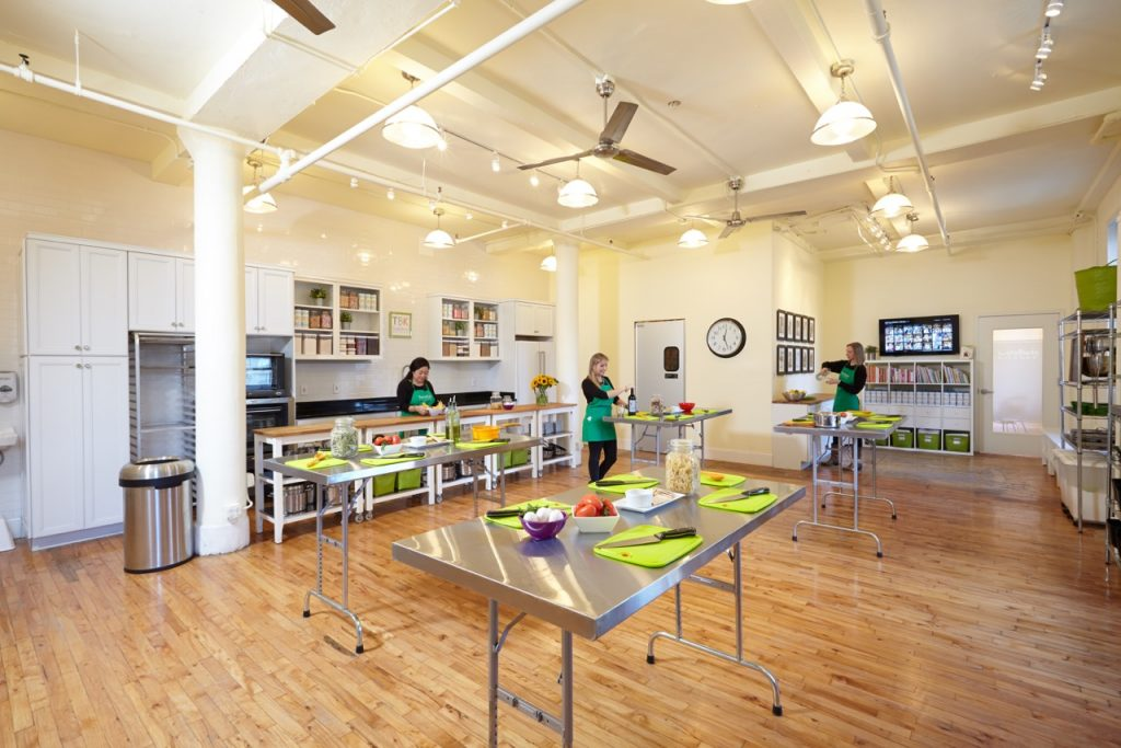 Beautiful cooking kitchen studio at Taste Buds Kitchen