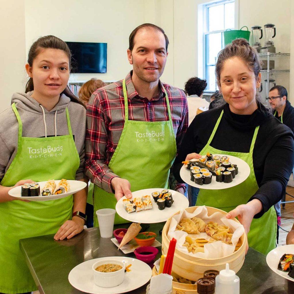 Family sushi & dumpling class at Taste Bids Kitchen