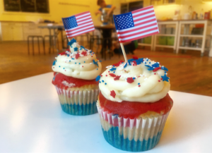 Red, White & Blue Patriotic Cupcakes